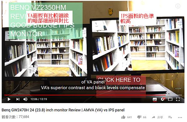 VA面板與IPS面板特性比較