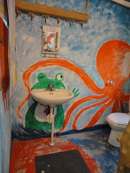 青蛙的大嘴是洗手台