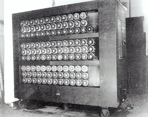 Front-of-a-bombe-code-breaking-machine-at-Bletchley-Park