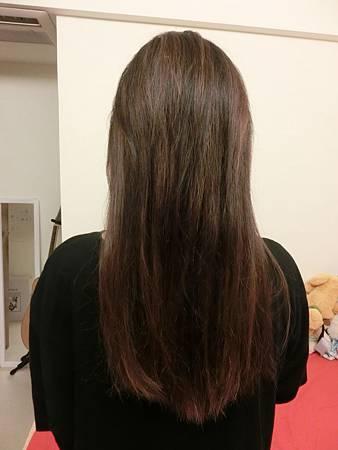 LUX洗髮後
