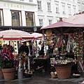 廣場上的攤販市集