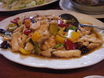 甜椒燴雞肉...無法形容的味道...