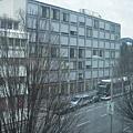 隔天早晨從窗口拍下的街景