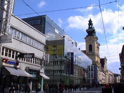 Linz的購物街道