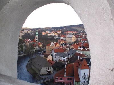 蜿蜒的Vltava將美麗的小鎮擁在懷中