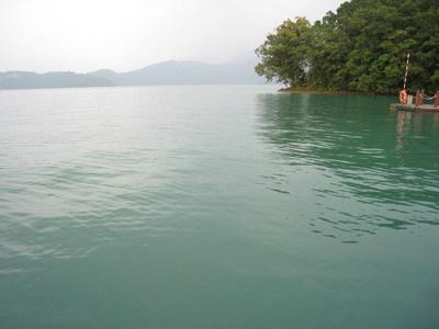 日月潭的湖水