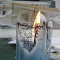 偽裝成冰山融化的蠟燭