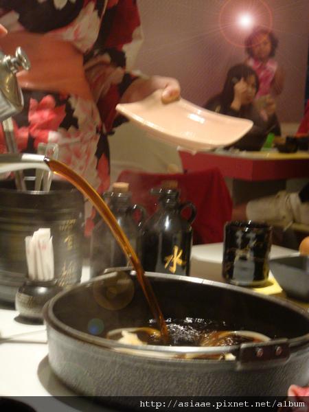壽喜鍋入湯