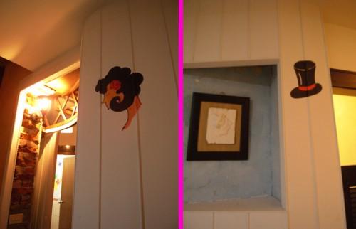 手繪男女廁所標章
