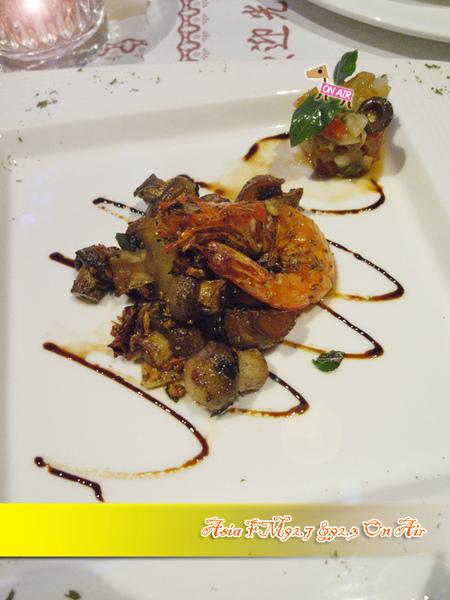 開胃菜-辣味蘑菇蒜香蝦