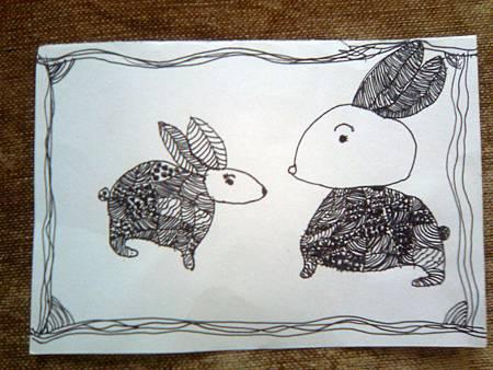 送給四年級老師的畫