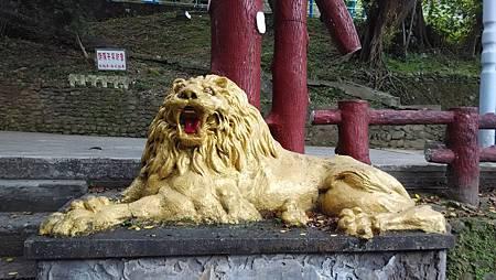 基隆中正公園的黃金獅子