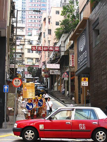 香港的巷道非常有魅力
