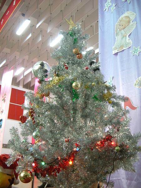 美麗的銀色聖誕樹