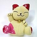日本布招財貓
