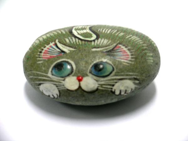 貓咪彩繪石頭