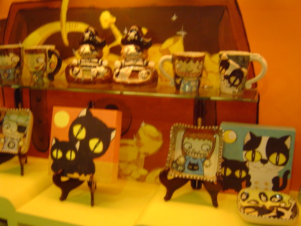 可樂貓店內的一些擺飾