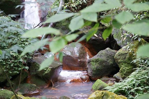 絹絲瀑布下的紅褐色岩石4.JPG