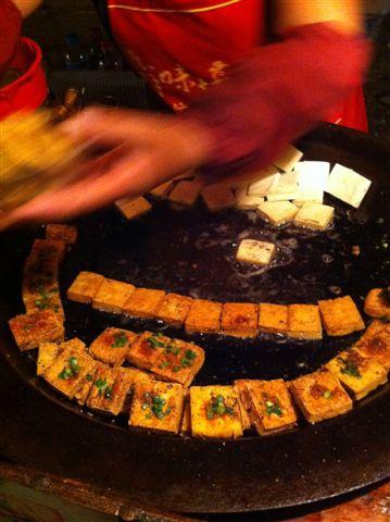 在蘇州吃臭豆腐 & 無糖綠茶2