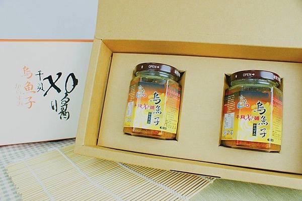 珍芳烏魚子干貝XO醬兩瓶裝禮盒