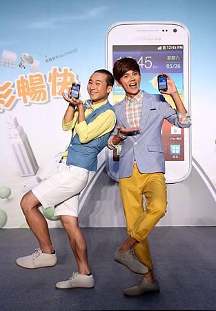 浩角翔起代言Samsung 雙星定位 雙核手機 果然好運成雙!兩人再爆「家中添雙星」!為再奪金鐘好運集氣!