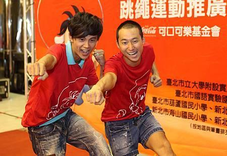 浩角翔起二度代言「跑跳好心情2」跳繩推廣活動