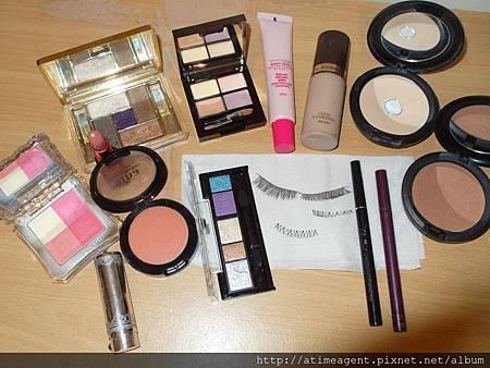 今天的開運彩妝要用到的化妝品