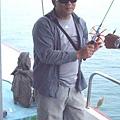 耍酷!釣不到魚的老爸