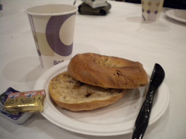 每天早上旅館提供的早餐