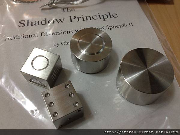 Die Cipher Deluxe Set (Stainless Steel) by Chazpro Magic