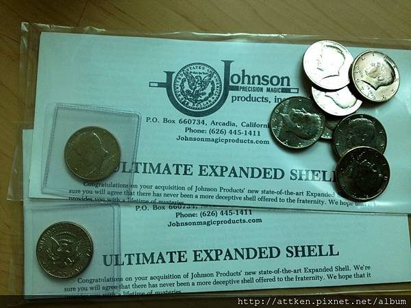 Johnson expanded shell *2 + 9 matching coins