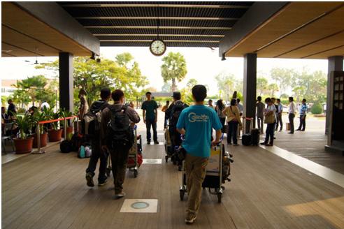 抵達柬埔寨機場