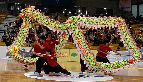 文化大學舞龍表演