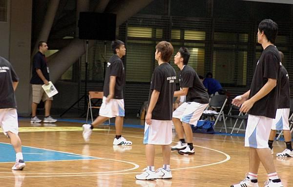 香港隊賽前練習
