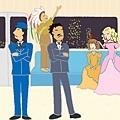 火車上的異想插圖