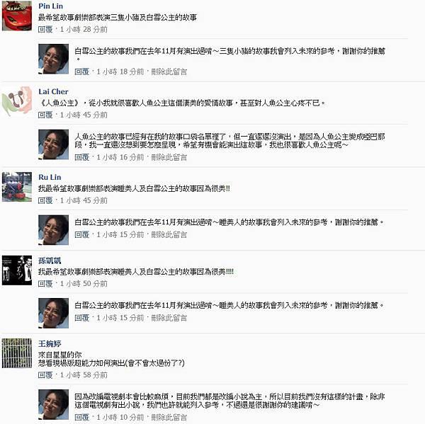 粉絲團破兩千留言14