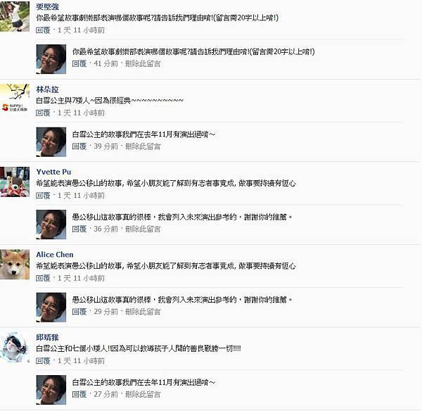 粉絲團破兩千留言20