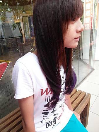 咖啡漸層紫