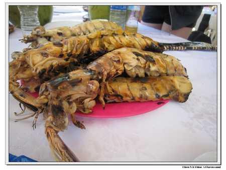 烤好的瀨尿蝦