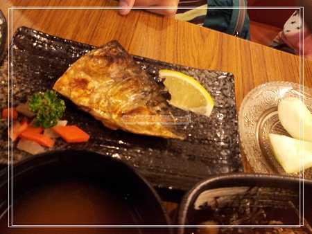 鹽燒鯖花魚飯