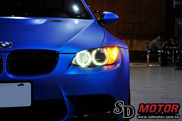 BMW E92 安裝10W光圈/天使眼 絕美閃耀3