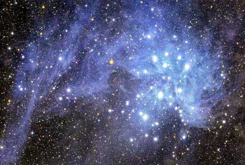 M45 - The Pleiades Star Cluster NASA - November 18, 2007-自動色階.jpg