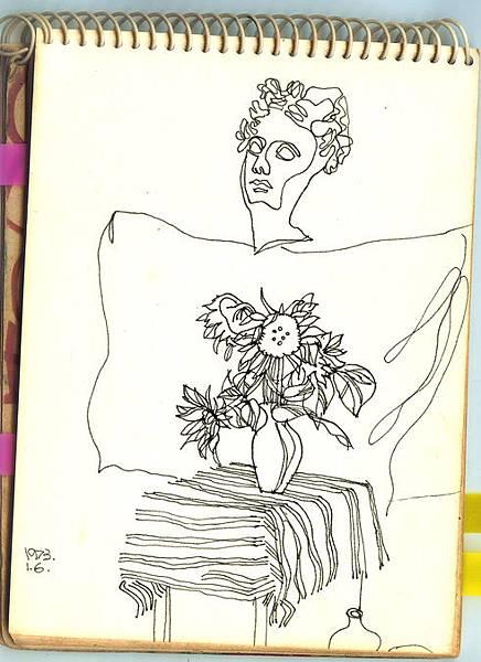 19730106 pen sketch