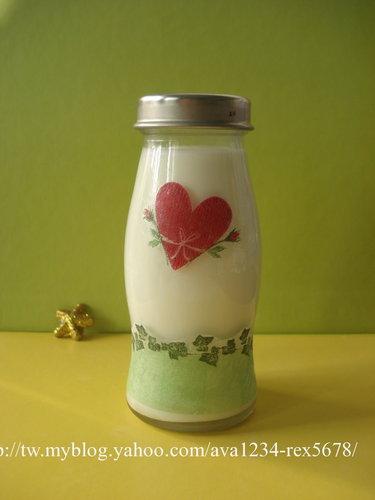 可愛的牛奶瓶