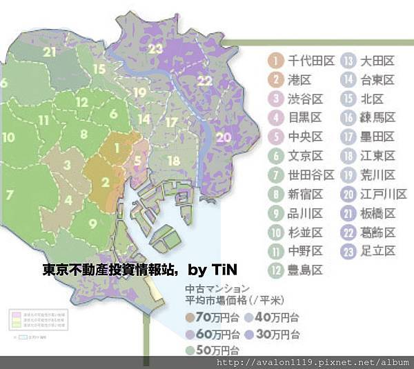 東京液化區與房價重疊圖