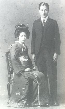 朱昭陽先生與黃坤卿女士新婚合影