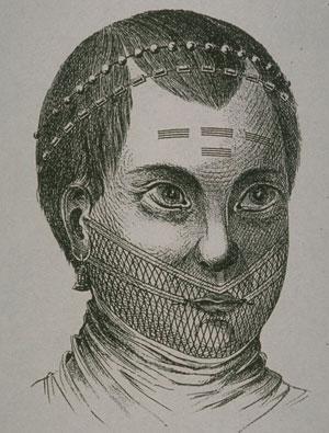 生番女人臉上的刺青方式