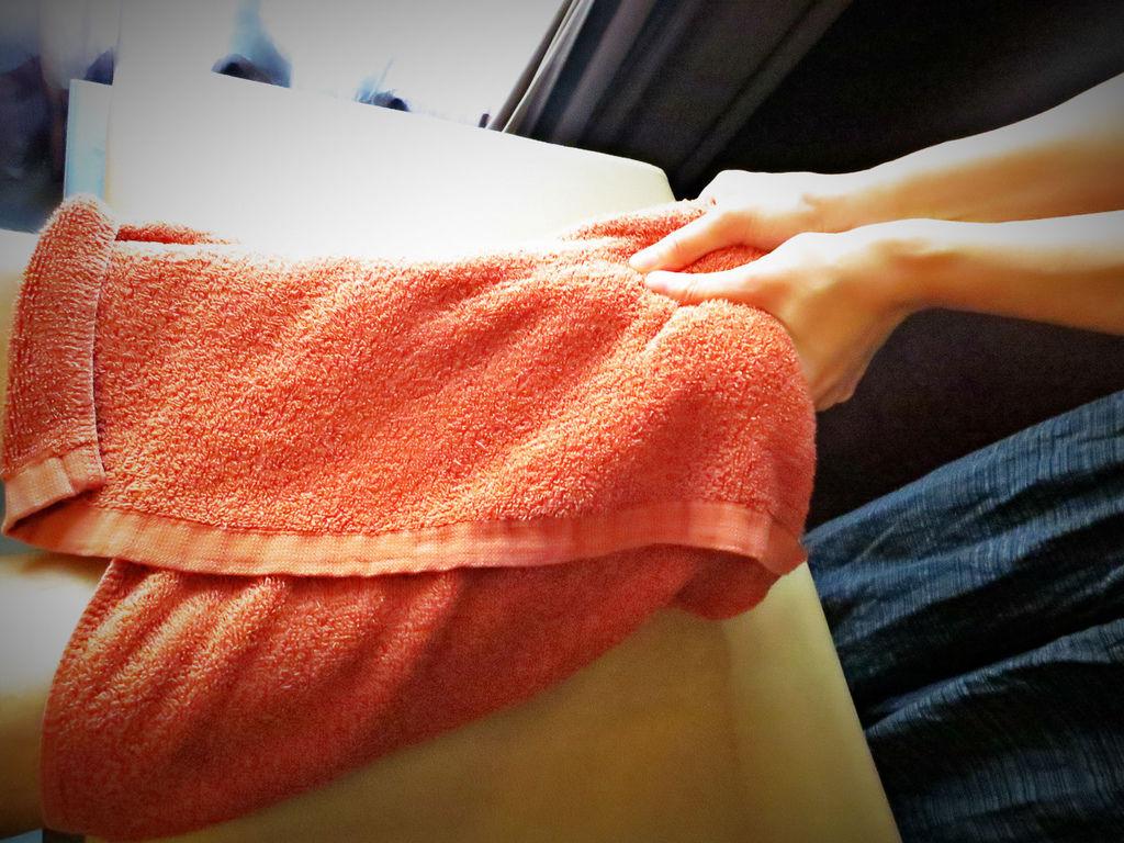 """台北SPA推薦心靈漫步,選擇適合的課程""""夏日美足""""  使用的毛巾非常乾淨衛生舒適"""