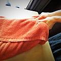 """柏汀妮蔻spa會館,選擇適合的課程""""夏日美足""""  使用的毛巾非常乾淨衛生舒適"""
