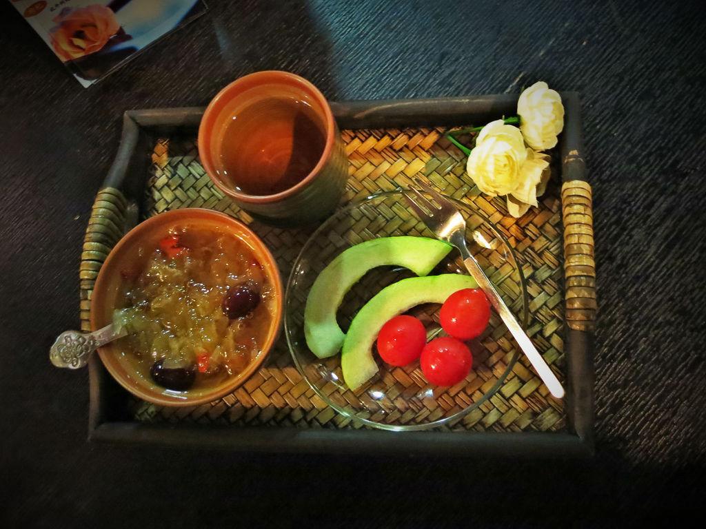 柏汀妮蔻SPA會館,課程結束後享用水果和甜點